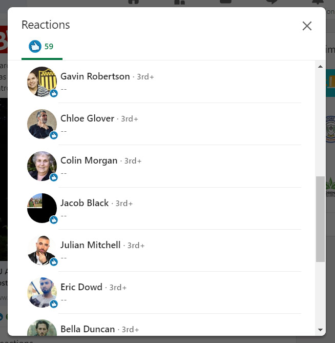 Fake or Real LinkedIn Profile Likes
